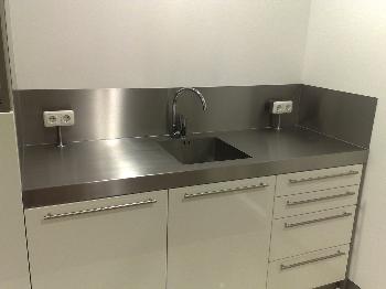 Rvs achterwand 90 70 keukenarchitectuur - Rvs plaat voor keuken ...